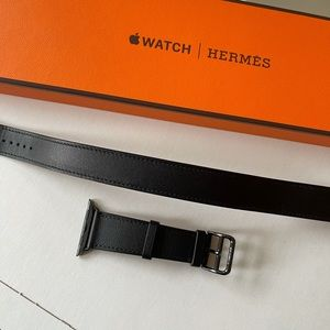 100%auth Hermes Apple Watch Double Tour 40 mm band